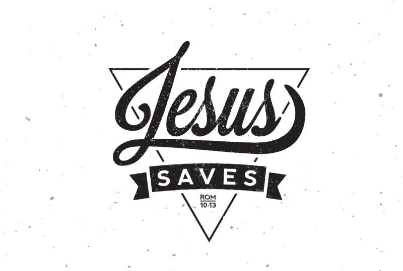 Jesus Saves Lettering