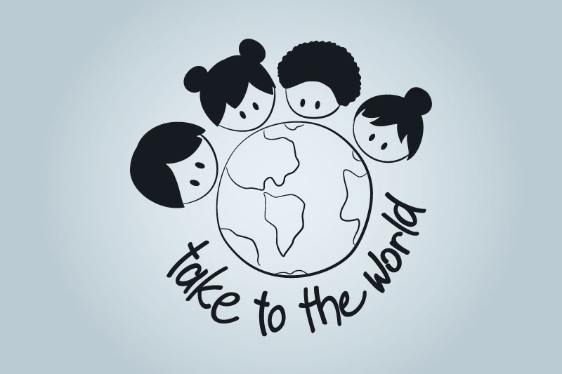 Take To The World logo in black and white