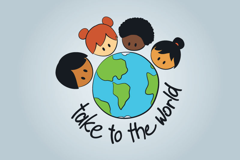 Take To The World logo in flat colors