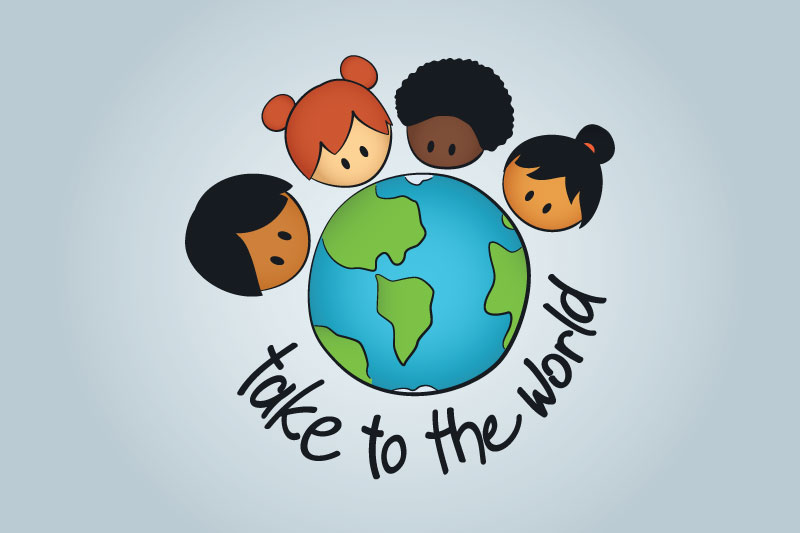 Take To The World logo with color gradients