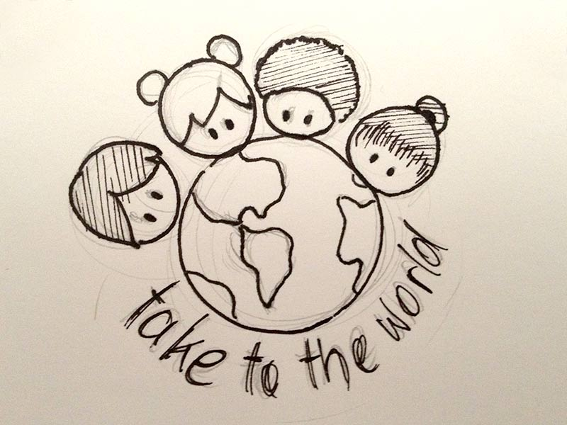 Take To The World logo sketch